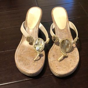 BCBG Cork Wedges